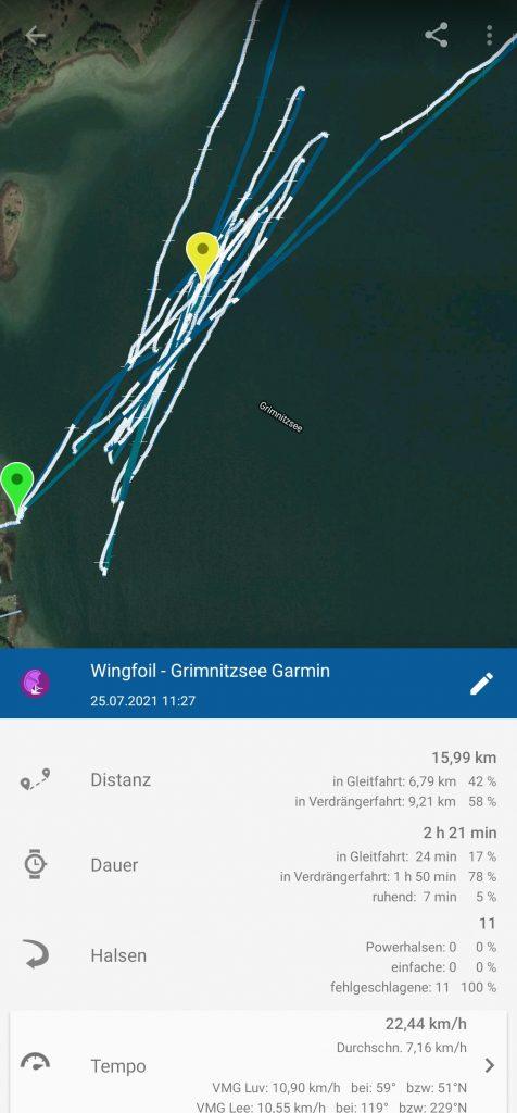 Screenshot Windsporttracker App